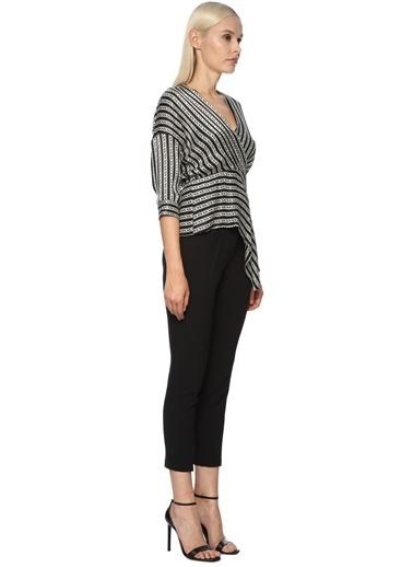 NetWork 1070349 Kadın DM x NetWork Desen Bluz Siyah
